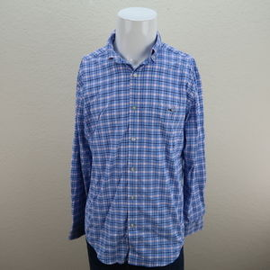 Mens vineyard vines long sleeve button up shirt M